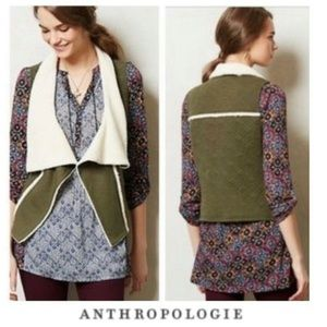 Anthro Saturday Sunday Quilted Sherpa Vest  Small
